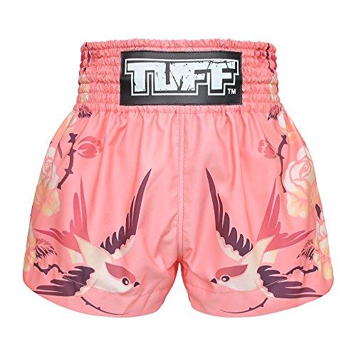 Tuff Muay Thai Shorts TUF-MS618-PNK-L