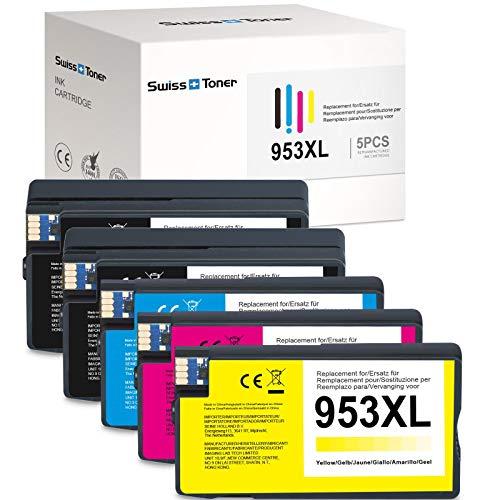 December Chip-Swiss TONER compatible con cartuchos de impresora 953 XL 953XL para OfficeJet Pro 8710 8715 8720 8725 8730 8740 8210 8218 7720 7730 (5 unidades)
