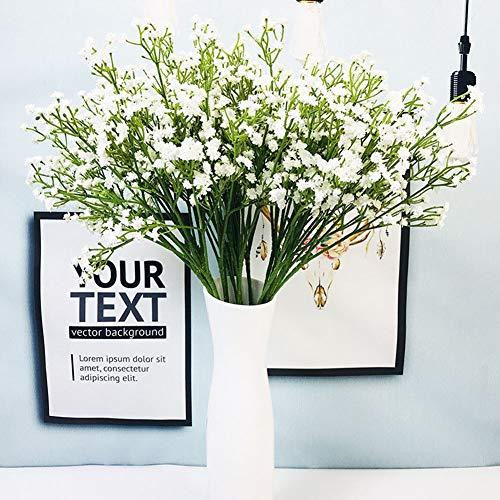 Surenhap Fleurs Gypsophile Artificielle en Plastique Faux Bouquet De Fleurs pour la Fête De Mariage Maison Jardin Décoration