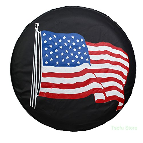 SUV Universal Fit for Jeep RV AmFor Spare Tire Cover Wheel Diameter 26-27 National Flag Trailer Weatherproof Tire Protectors Truck and Many Vehicle