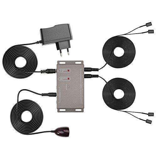 Maclean MCTV-522 IR Infrarot Verlängerung für Fernbedienung - bis zu Vier Geräte