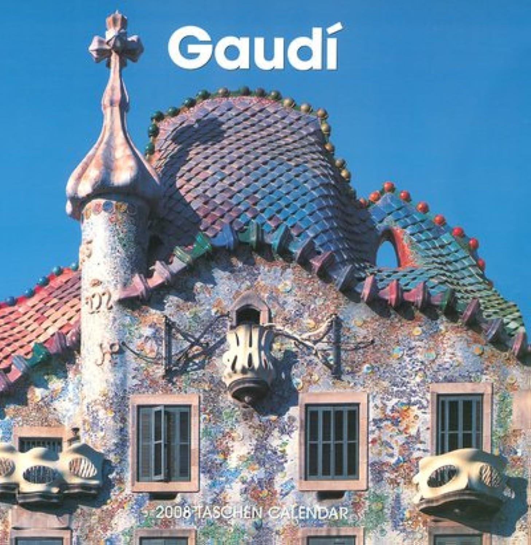 苦痛郵便谷Gaudi 2008 Calendar (Wall Calendar)