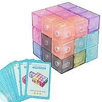 キューブ型 立体パズル カラフル 自由に組立て 飽きずに遊べる 磁力 おもちゃ (6cm×6cm×6cm クリア)