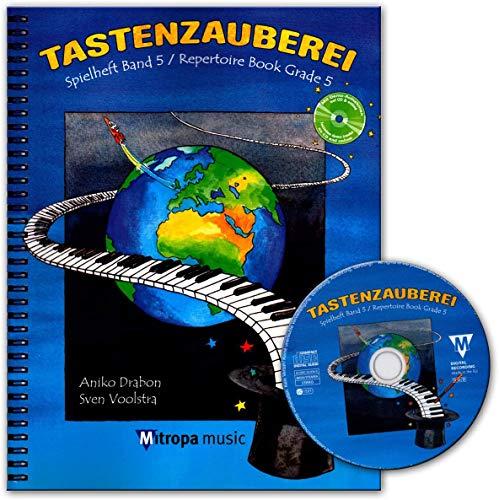 Tastenzauberei Spielheft Band 5 - Klavierschule mit Audio-CD ISBN 9789043145961 - Deutsch, mit CD
