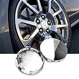 Rhinotuning 83mm(3.27in)/76.4mm(3in) Chrome Silver ABS Car Wheel Center Hub Caps...