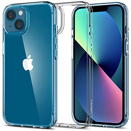 Spigen Ultra Hybrid [Anti-Yellowing Technology] Designed for iPhone 13 Case (2021) - Crystal Clear