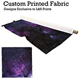 Galaxie 10 Design Digitaldruck Stoff Pongee 59