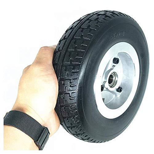Ruedas repuesto para scooter Neumáticos 8 pulgadas, neumáticos sólidos a prueba explosiones 2.50-4, neumáticos antideslizantes resistentes al desgaste, adecuados para scooters/triciclos edad avanzad