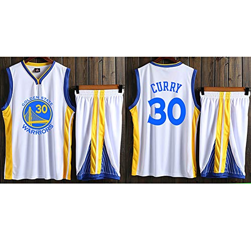YHEB Warriors Curry Basketbaluniform, jersey, ademend en sneldrogend materiaal, heren trainingspak, top/shortpak