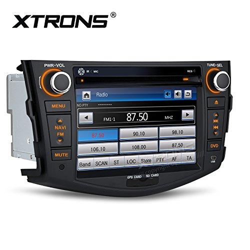 XTRONS 7 pulgadas HD pantalla táctil digital GPS navegación coche estéreo Radios reproductor de DVD con función de espejo de pantalla para TOYOTA RAV4 2006-2011