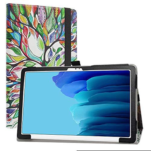 Labanem Funda para Galaxy Tab A7 10.4, Slim Fit Carcasa de Cuero Sintético con Función de Soporte Folio Case para 10.4' Samsung Galaxy Tab A7 10.4 (2020) T500 /T505 /T507 Tablet - Love Tree