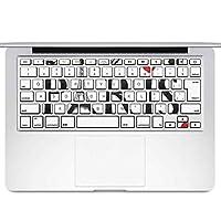 igsticker MacBook Air 13inch 2010 ~ 2017 専用 キーボード用スキンシール キートップ ステッカー A1466 A1369 Apple マックブック エア ノートパソコン アクセサリー 保護 013201 パリ 英字 おしゃれ