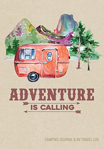 Camping Journal & RV Travel Logbook, Red Vintage Camper...