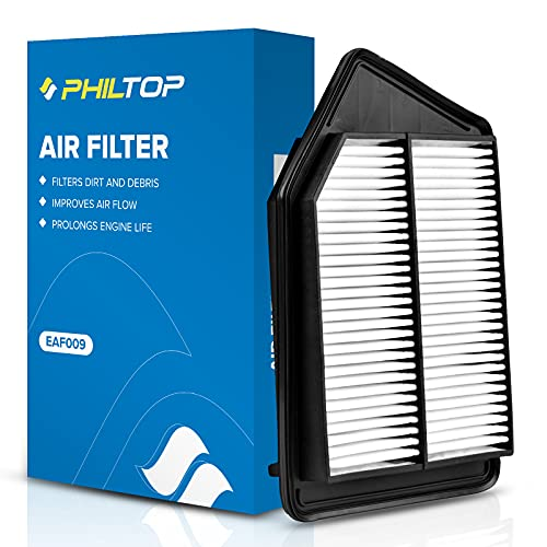 PHILTOP Engine Air Filter, EAF009 Replacement for Accord L4 Gas (2013-2017), TLX L4 (2015-2020), Compatible with CA11476 Air Filter, Protect Engine & Improves Acceleration