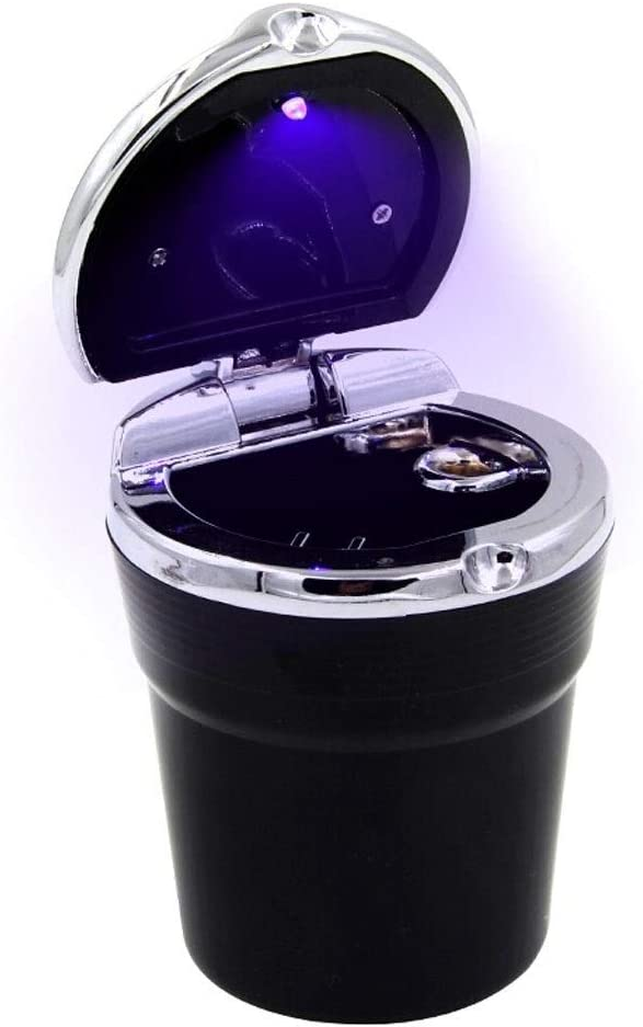 NYKK Inexpensive Tabletop Ashtray Car LED A surprise price is realized with Cover Lam