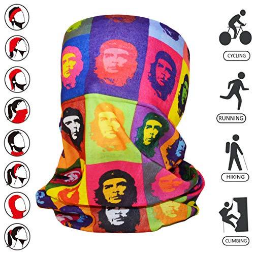 Multifunktionstuch Schlauchschal Gesichtsmaske Mundschutz Jogging Läufer Kopfbedeckung Haar-/Stirnband Radfahrer Schlauchtuch Gesichtsschutz Sturmhaube Sport Halstuch Kopftuch Che Guevara-Muster