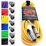 No Bull Music Gear' Premium XLR Cable (Yellow, 6m): Achieve a Clearer Audio