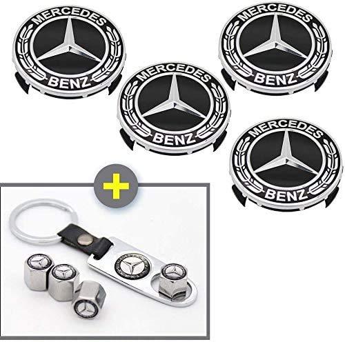 9PCS for Benz Wheel Center Caps Parts, 75mm/2.95