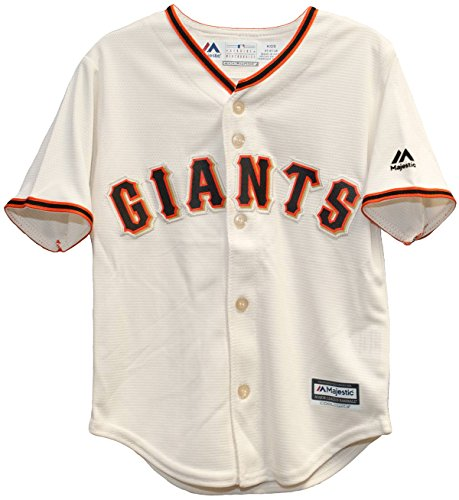 Majestic MLB San Francisco Giants Ivory Off White Baseball Jersey (24 Month)