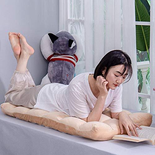 Silla de Oficina Ergonómica Silla de Piso Plegable de Algodón de Alta Resiliencia con Respaldo Cómodo Ajustable en 6 Ángulos para Tratar el Dolor de Espalda para Yoga, Meditación, Trabajo, V