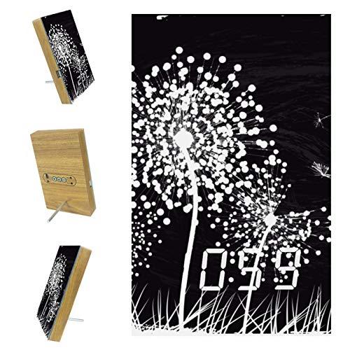 Yumansis Tarassaco Bianco LED Digitaler Wecker Weck-Timer Nachttisch mit USB-Ladezifferblatt-Anzeige, Schlummerfunktion, netzbetriebener , Akku inklusive, für Schlafzimmer, Büro 3.8In