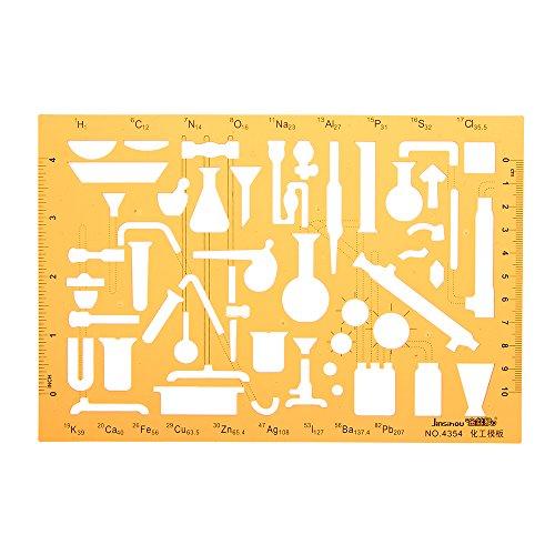 MYAMIA Chemielabor Experimentier Symbole Zeichnung Schablone Kt Soft Plastic Lineal Design Stencil
