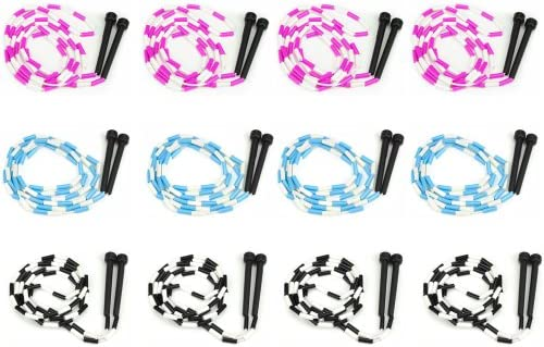 7-Foot Jump Ropes, 12-Pack – Pink, Blue,...