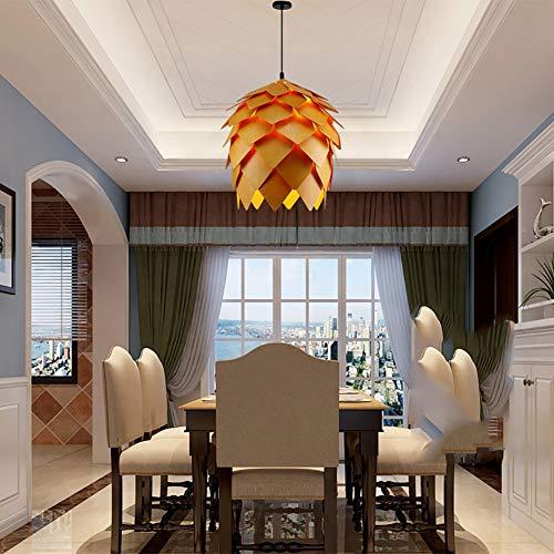WFBP Lámpara Colgante de ratán, decoración de ratán de bambú lámpara de Techo, Lámpara conForma de ratán Natural luz Restaurante salón Pasillo café iluminación,Natural,40CM