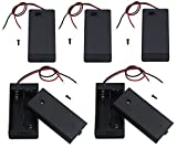 LAMPVPATH 5Pcs 2 AA Battery Holder with Switch, 2X 1.5V AA Battery Holder Case with Wire Leads and ON/Off Switch(5 Pack)