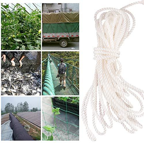 Varal de náilon, corda de náilon, capacidade de carga forte para agricultura industrial, pecuária, movimentação, transporte etc.(white, 7 centimetres (2 catties 100 meters))