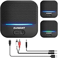 ELEGIANT Bluetooth 5.0-ontvanger, draadloze audioadapter met 3D-geluidseffect, superlage latentie met 20 uur afspelen...