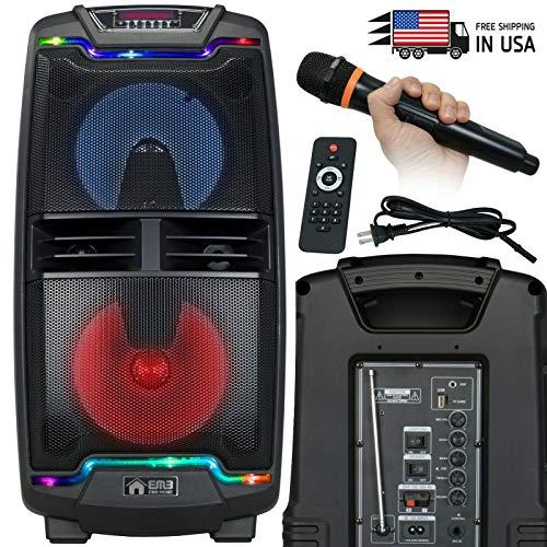 Learn More About EMB PKL208BT 1000 Watt Rechargeable DJ PA Speaker w/MIC, USB, SD, Bluetooth