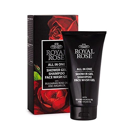 Gel Ducha, Champú, lavado Viso Royal Rose Men All In One, con aceite de rosa y aceite de argan