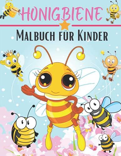 Honigbiene Malbuch für Kinder: Honigbienen-Malbuch Bienen-Buch für Kinder Marienkäfer-Malbuch Honigbienen-Bücher für Kinder Insekten-Malbuch ... Bücher für Kinder Käfer-Bücher für Kinder 3-8