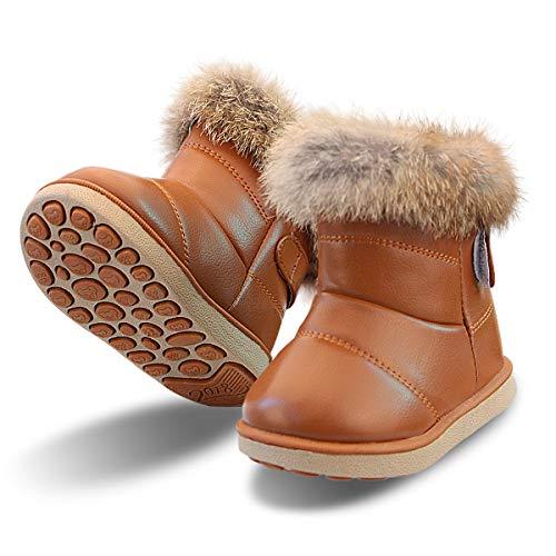 Stivaletti Bimba Scarpe Bambine Inverno Neve Stivale Fodera Calda Boots per Ragazze (24...