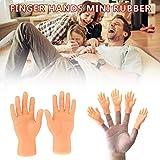 Kindlyperson Fingerhände, Mini Gummipuppen Original Fingerhände Spielzeug, Spaß für Familie und...