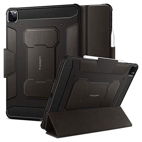 Spigen Rugged Armor Pro Compatible with iPad Pro 12.9 Case with pencil...