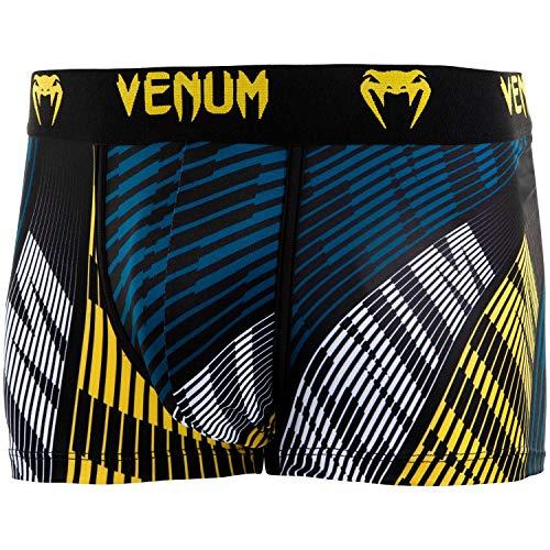 Venum Herren Plasma Sport Boxershorts, Schwarz/Gelb, XXL