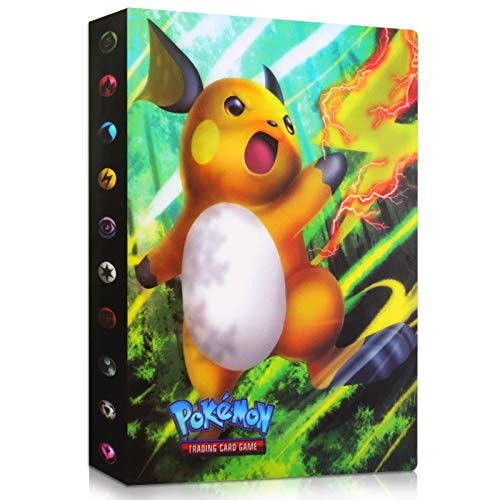 Sinwind Pokemon Sammelalbum, Pokemon Karten Album, Pokemon Karten Halter, Pokemon Ordner Karten Album Buch , Bester Schutz für Pokemon Sammel Karten GX EX Karten Album (Raiciu)
