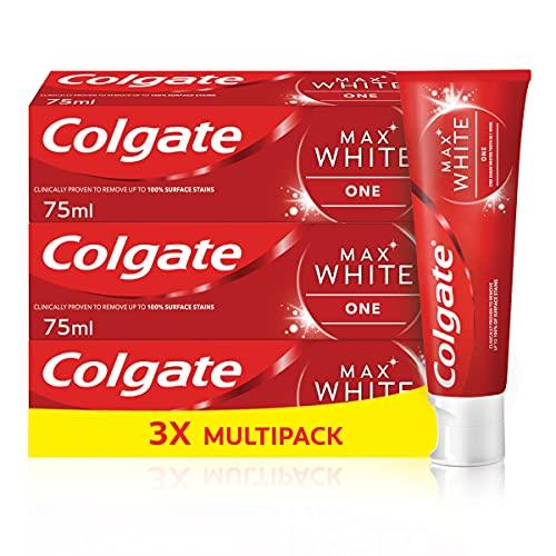 Colgate Max White One Toothpaste, 3 x 75ml