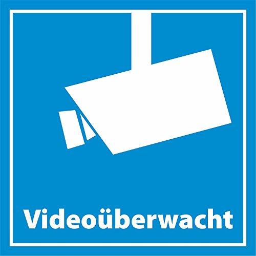 INDIGOS UG 10x Aufkleber Videoüberwachung/videoüberwacht 5 x 5 cm - Quadratisch - Dezent Aber wirkungsvoll - Hochwertige Foli