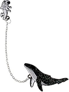 Creative Astronaut Whale Brooch Pins Chin Jewelry Clothes Bags Backpacks Capel Jacket Badge Accessories Durable and Practical