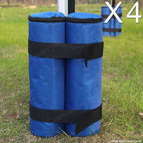 ABCCANOPY Sand Bag 4PCS Gazebo Weight Bag Suit for Any Pup Up Gazebo(Blue)