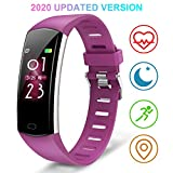 BingoFit Slim Activity Tracker, Fitness Tracker Heart with Rate Monitor Connected GPS,Waterproof Calorie Counter,Sleep Monitor,Pedometer Smart Wrist Band for Women Men Kids and Gift