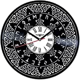 Reloj de pared Símbolo celta Disco de Vinilo Único Reloj de Pared Regalo de Mano Para Hombres Mujer Amigos Niños