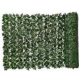 Siepe artificiale verde foglia artificiale Ivy recinto privacy parete pianta falsa Sfondo Erba decorativo per esterna Giardino Balcone 0.5x3m