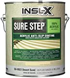 COMPLEMENTARY COATINGS SU0922092-01 INSL-X Sure Step Acrylic Anti-Slip Concrete Coating, 1 gallon, Desert Sand