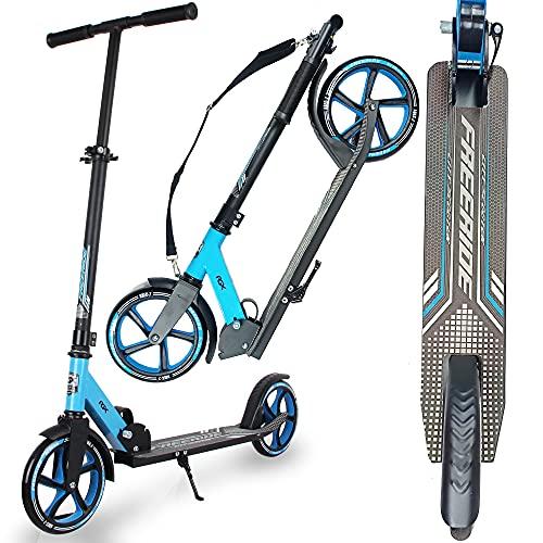 WeLLIFE Monopattino Adulti Pieghevole ad Altezza Regolabile, Ruote Grandi 200 mm e Freno a Pedale, Urban Scooter in Alluminio, Carico Massimo100 Kg