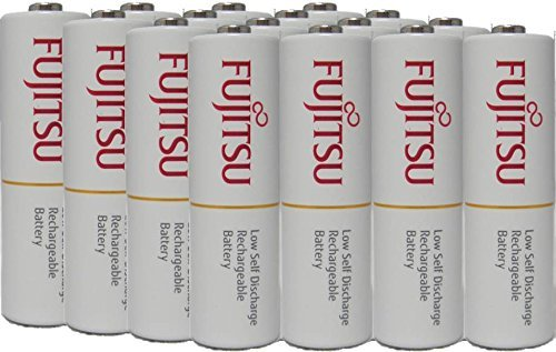 16 Fujitsu AA rechargeable NiMH batteries 1.2V 1900mAh Ready-to-use Made in Japan