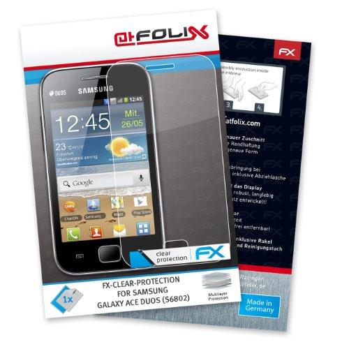 Displayschutz@FoliX atFoliX Pellicola a Specchio Samsung Galaxy Ace Duos (GT-S6802) - FX-Mirror con Effetto Specchio Trasparente Confezione Singola